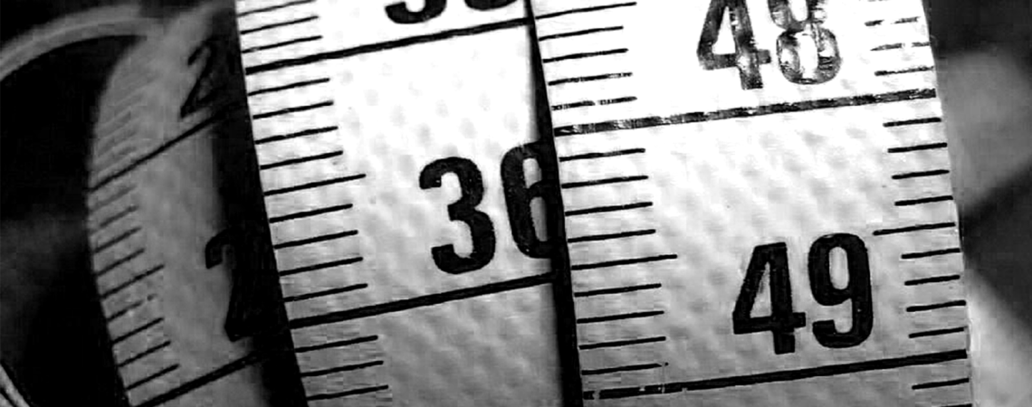 Black and White measuring tape